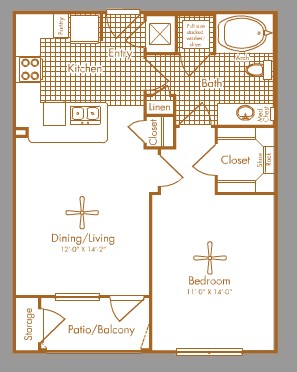840 sq. ft. RICHMOND floor plan