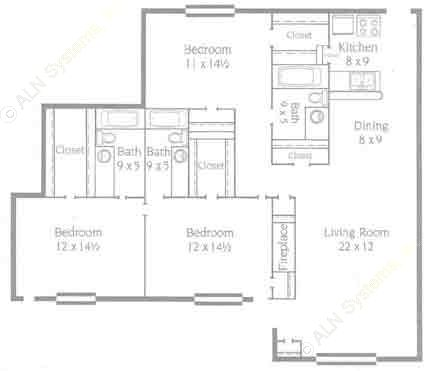 1,500 sq. ft. C1 floor plan