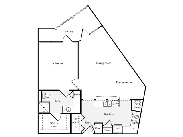 839 sq. ft. A8 floor plan