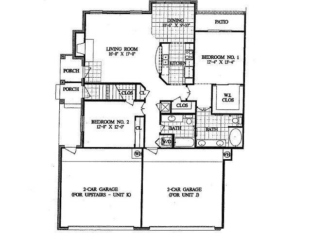 1,355 sq. ft. B5 floor plan