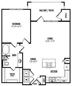 869 sq. ft. Fairmont floor plan