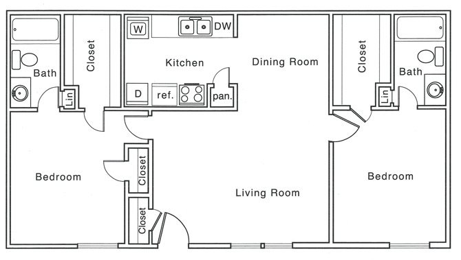 1,020 sq. ft. G floor plan