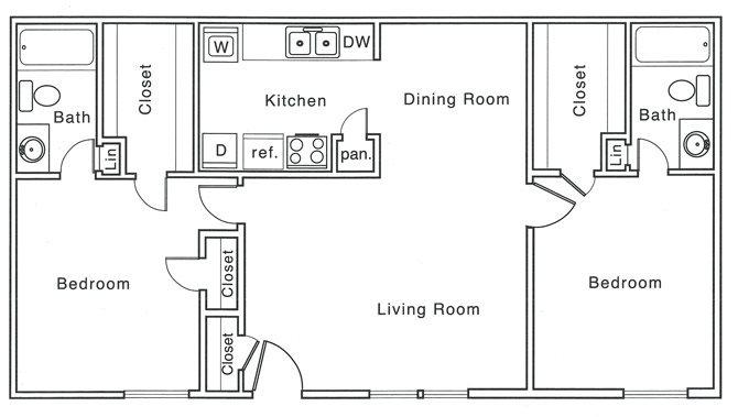 1,020 sq. ft. G floor plan