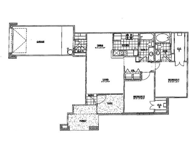 999 sq. ft. D 60 floor plan