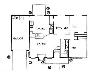 1,000 sq. ft. TOWNHOME floor plan