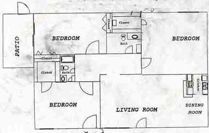 1,196 sq. ft. floor plan