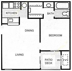 532 sq. ft. PONY EXPRESS floor plan