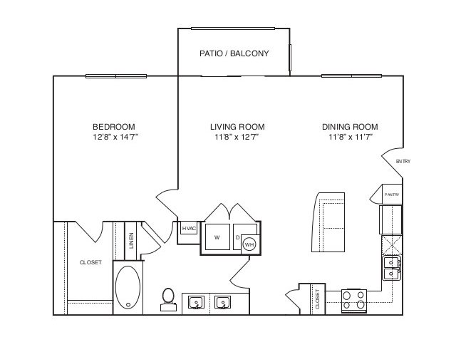 882 sq. ft. A3 alt 2 floor plan
