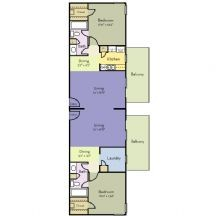 1,300 sq. ft. Blue Bell floor plan