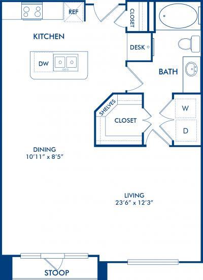 748 sq. ft. CHARLESTON floor plan