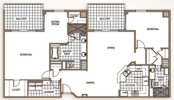 1,845 sq. ft. to 2,590 sq. ft. floor plan
