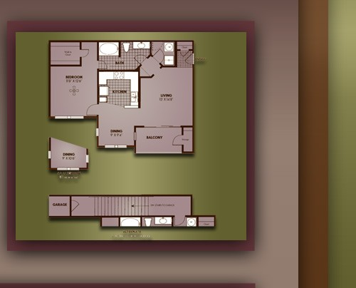 796 sq. ft. A2/CAMBRIDGE floor plan