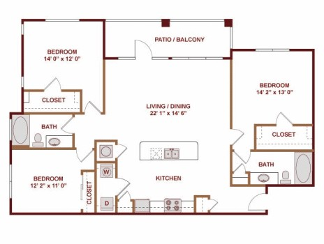 1,541 sq. ft. Talara floor plan