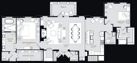 2,028 sq. ft. PH3 floor plan