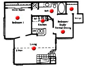 736 sq. ft. floor plan