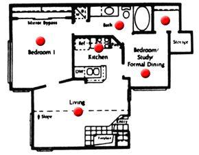 736 sq. ft. floor plan