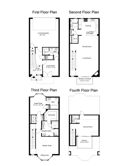2,584 sq. ft. Woodhaven floor plan