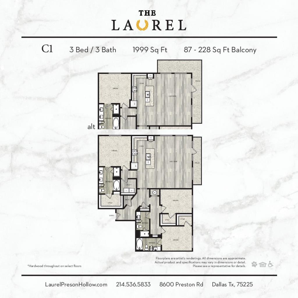 1,999 sq. ft. C1 floor plan