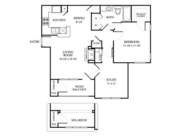 860 sq. ft. COTTAGE floor plan