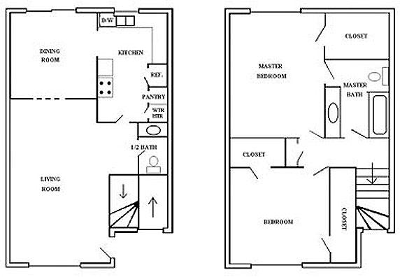 1,162 sq. ft. 4 floor plan
