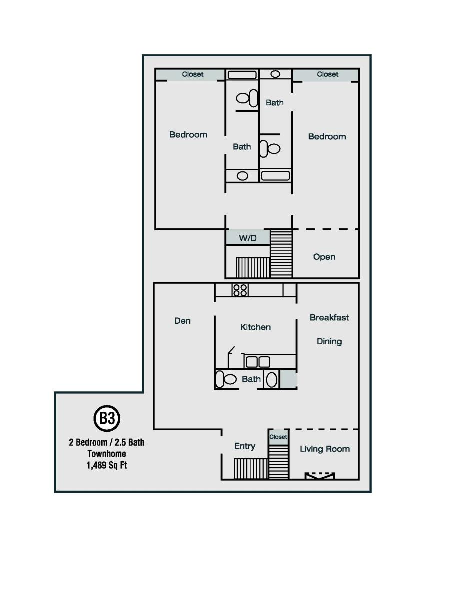 1,489 sq. ft. B3 floor plan