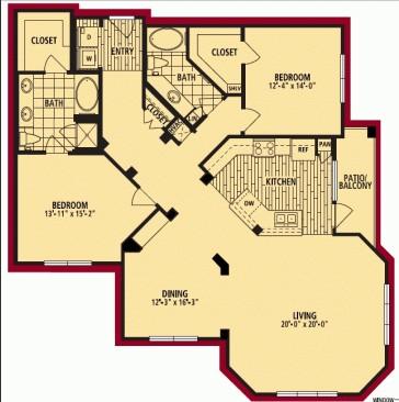 1,669 sq. ft. GRANDE floor plan