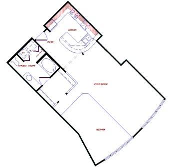 973 sq. ft. floor plan