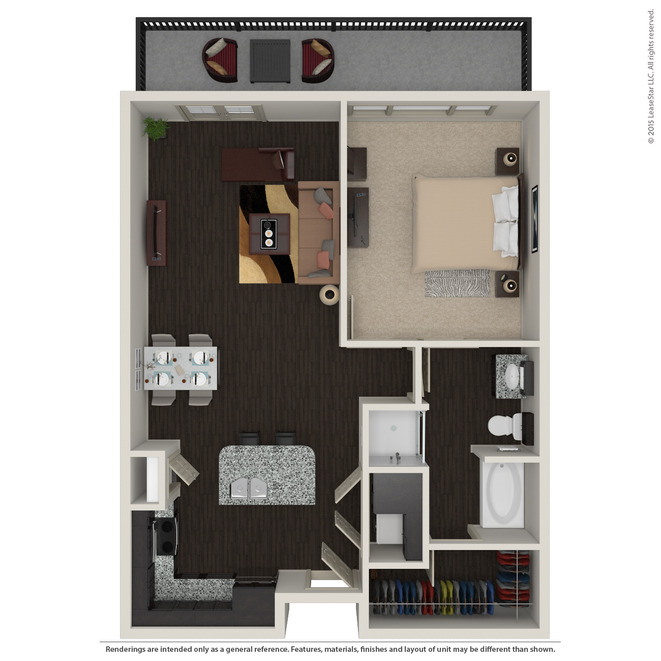 847 sq. ft. A3.5 floor plan