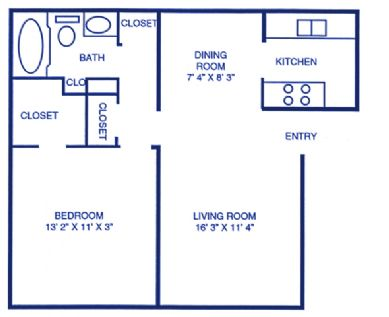 629 sq. ft. floor plan