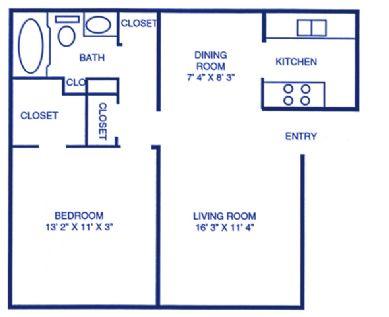 629 sq. ft. floor plan