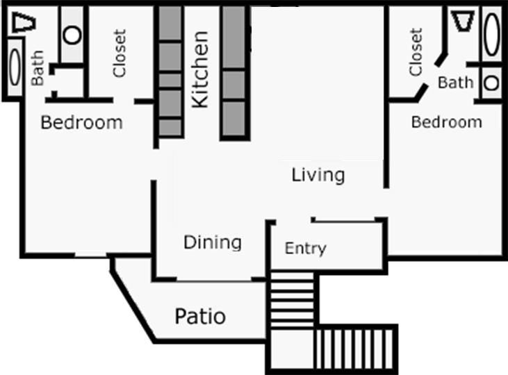 973 sq. ft. Jasmine floor plan