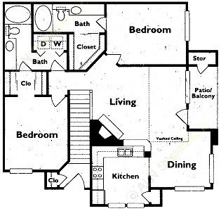 1,147 sq. ft. floor plan