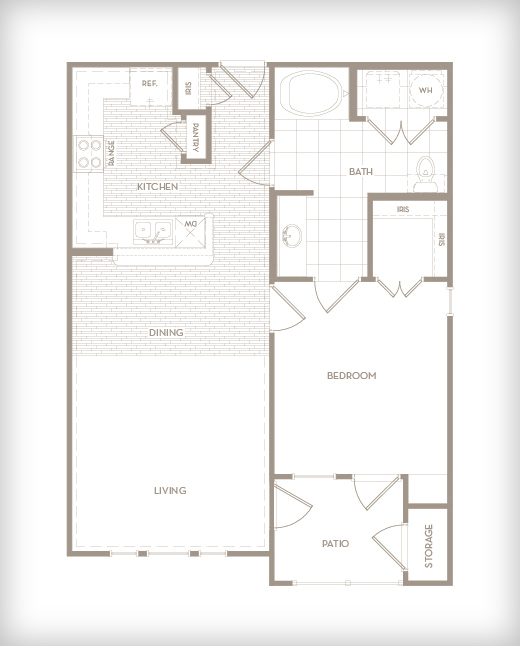 804 sq. ft. A3-G Lounge floor plan