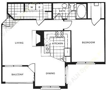 822 sq. ft. to 830 sq. ft. A3/Stratford floor plan