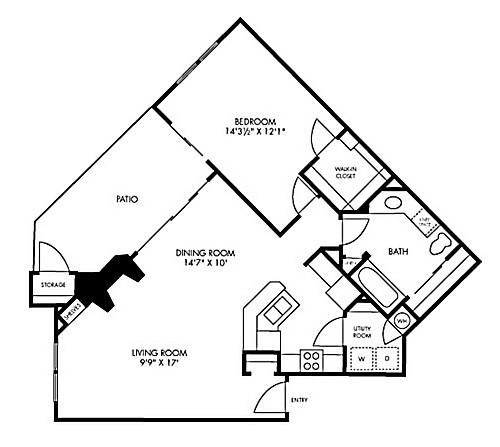 854 sq. ft. Red Rock floor plan