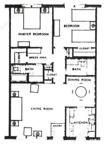 1,000 sq. ft. floor plan