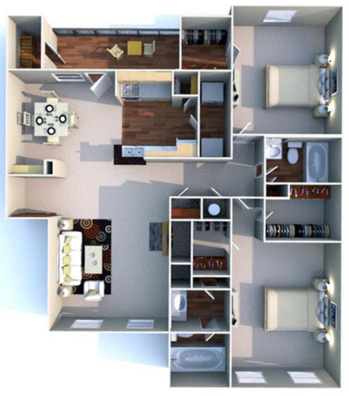 1,159 sq. ft. G floor plan