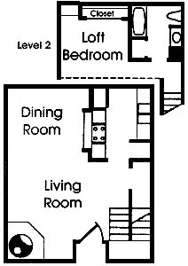 715 sq. ft. C2 floor plan