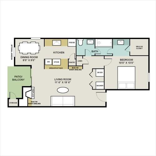 773 sq. ft. F floor plan