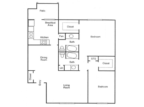 1,217 sq. ft. Magnolia floor plan