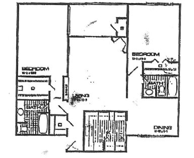 1,178 sq. ft. Lily floor plan