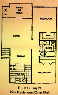 817 sq. ft. E floor plan