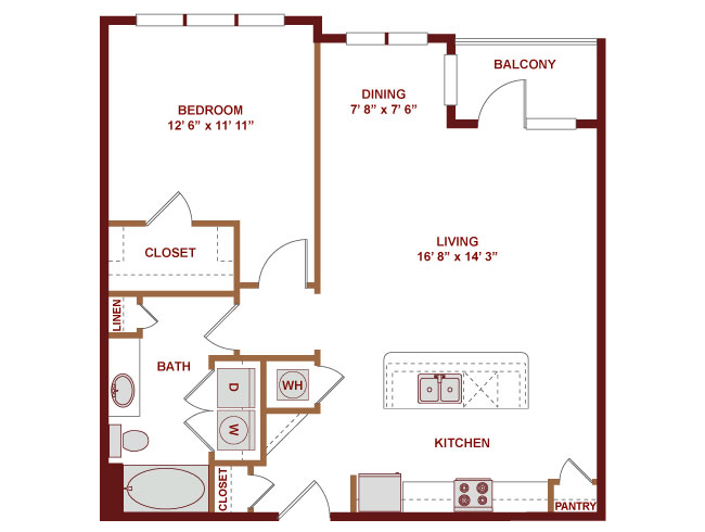 849 sq. ft. A425 floor plan