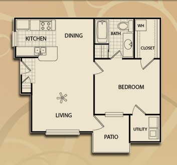 714 sq. ft. A1/60 floor plan