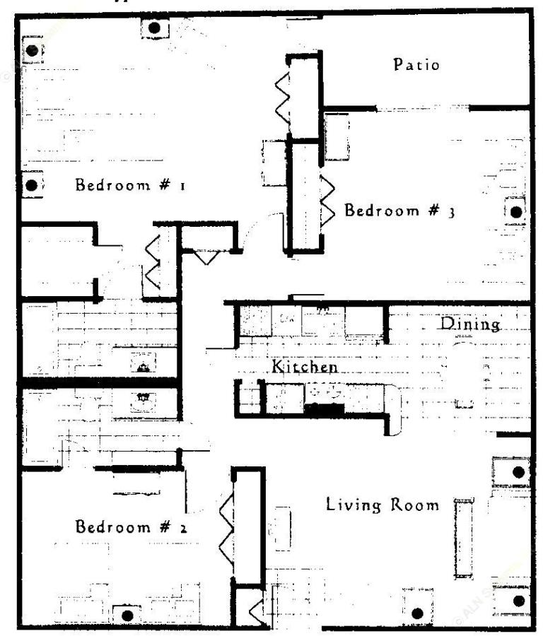 1,296 sq. ft. floor plan