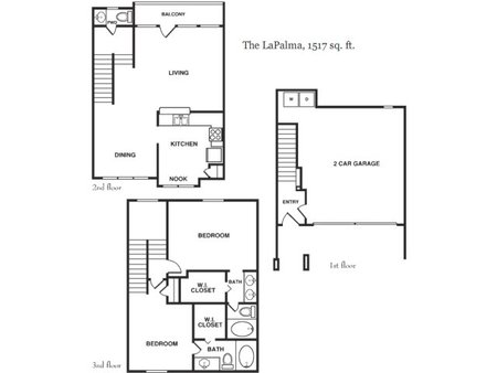 1,517 sq. ft. LaPalma floor plan