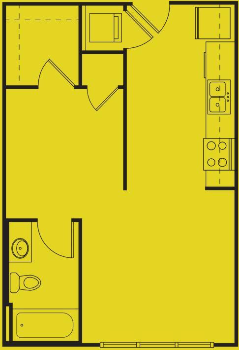 500 sq. ft. MAIN floor plan