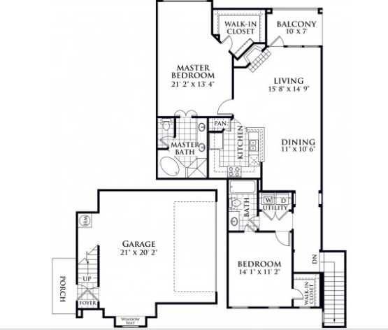 1,364 sq. ft. Ellington floor plan