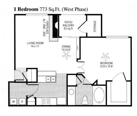 710 sq. ft. to 773 sq. ft. B floor plan