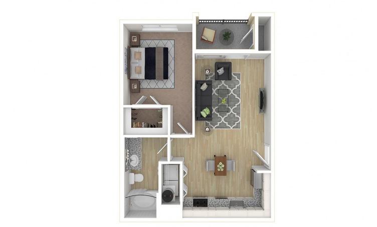 625 sq. ft. A2.1 floor plan